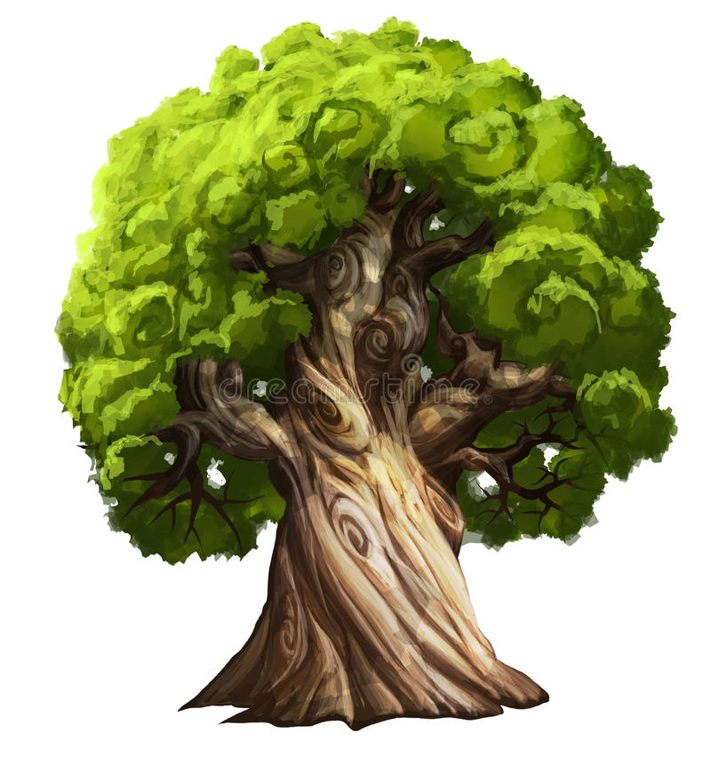 Big tree royalty free illustration