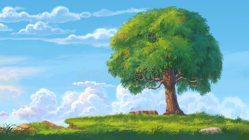 Download Big tree stock illustration. Illustration of blue, leafy - 59482975