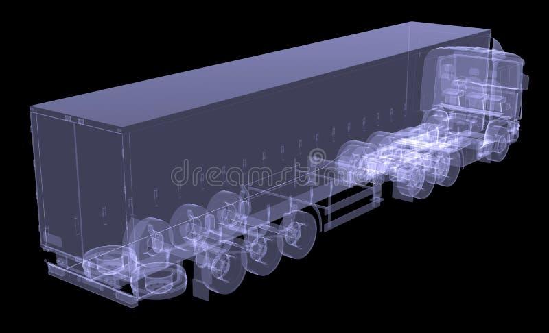 Download Big truck tractor stock illustration. Illustration of transportation - 32540664