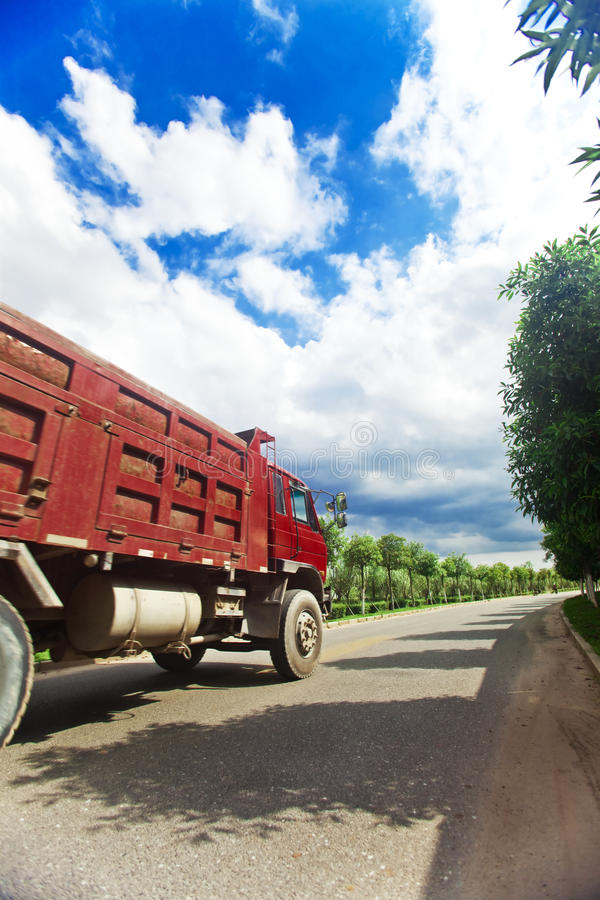 Big truck transporting stock photos