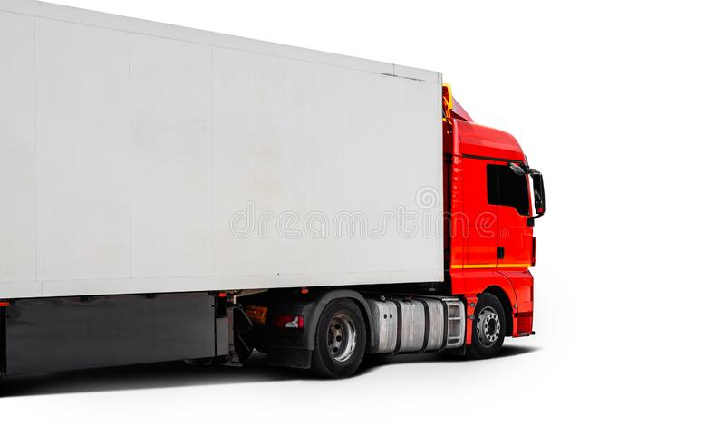 Big truck . on white isolated background, side view. stock photography