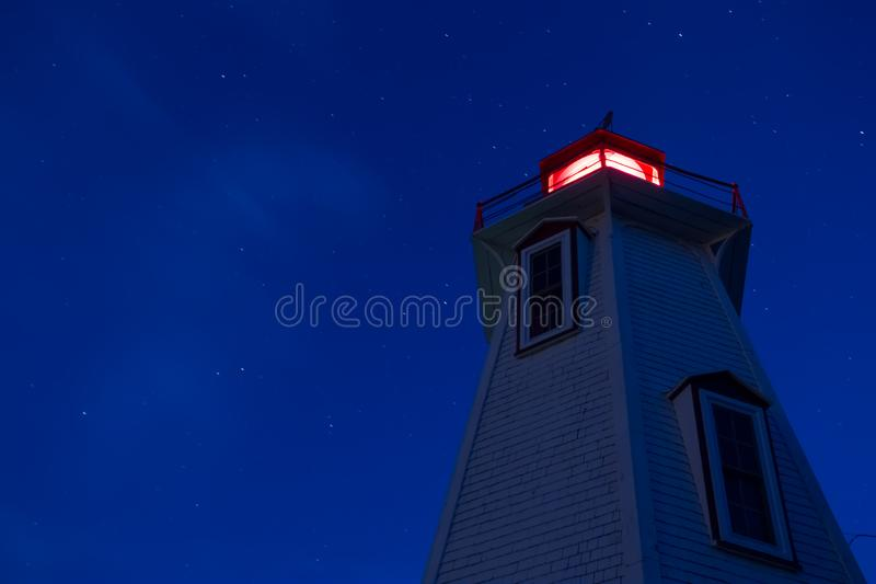 Big Tub Lighthouse Night View royalty free stock photography