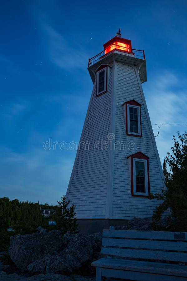 Big Tub Lighthouse Night View stock photo