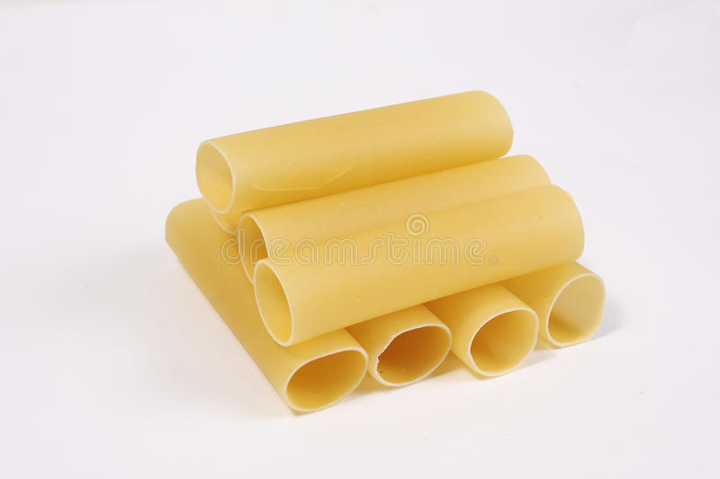 Big tube pasta stock images