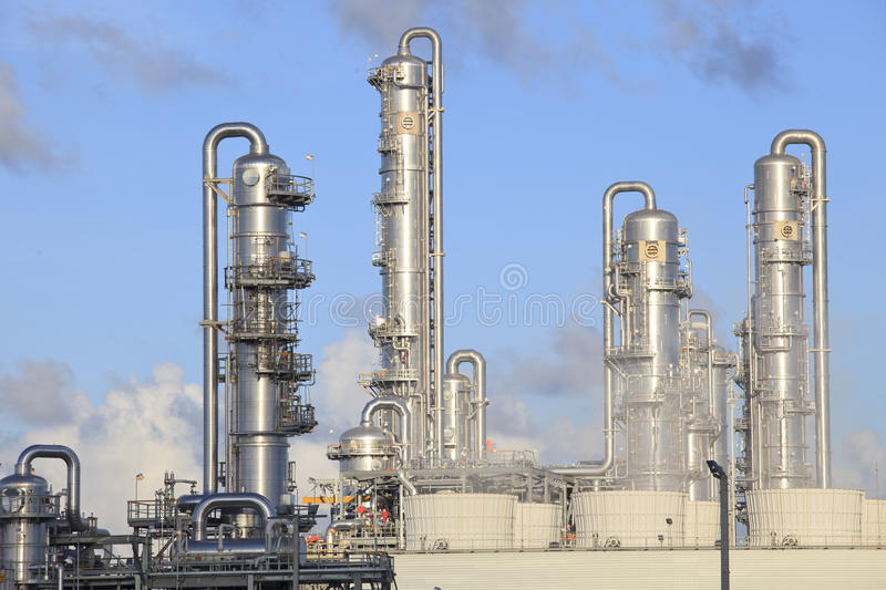 Big tube in refinery petrochemical plant in heavy industry estate. File big tube in refinery petrochemical plant in heavy industry estate royalty free stock photo