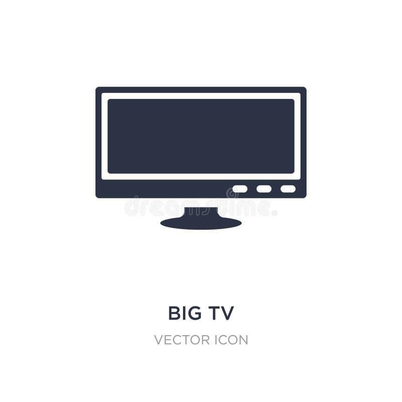Big tv icon on white background. Simple element illustration from Technology concept. Big tv sign icon symbol design stock illustration