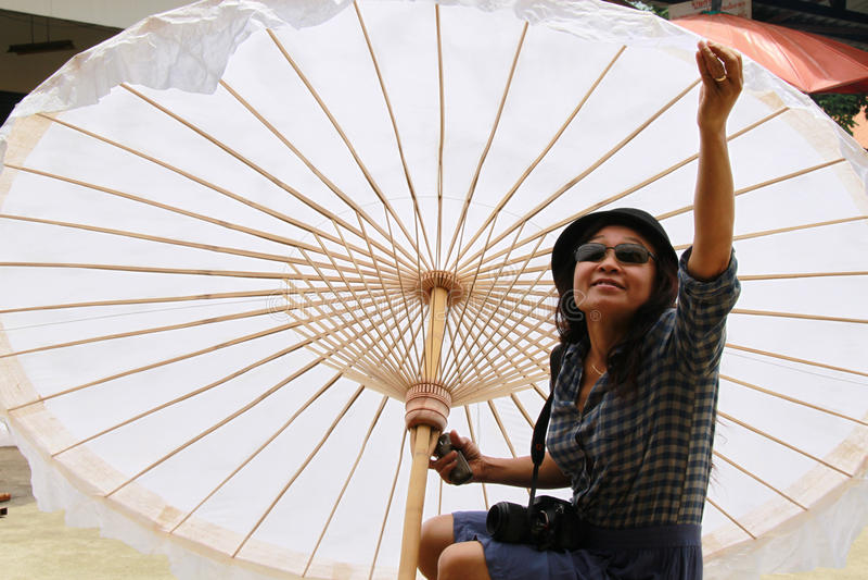 Download Big umbrella stock image. Image of smile, tourist, handicraft - 20602241