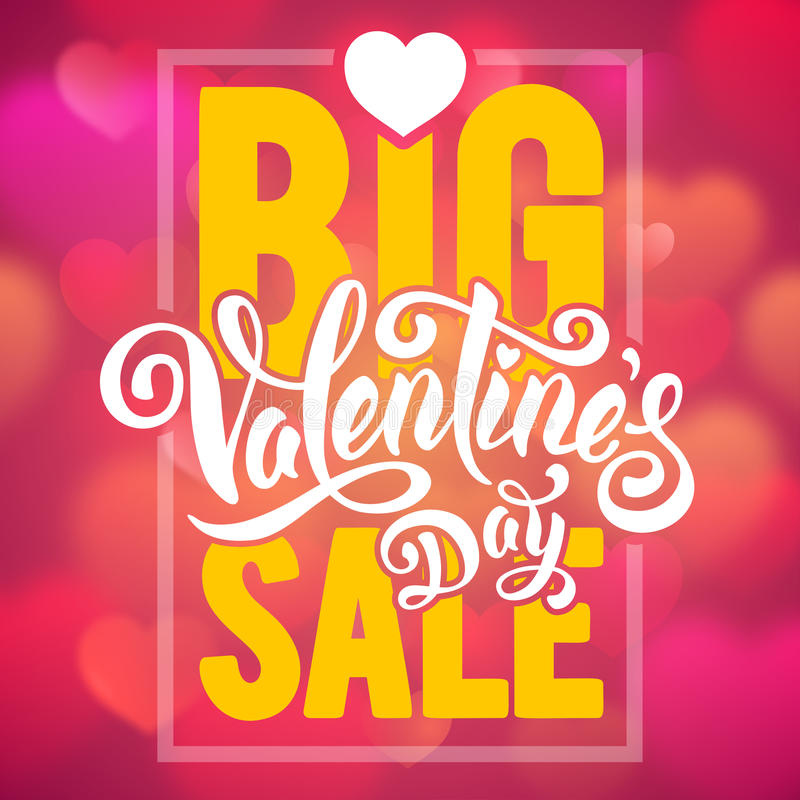 Big Valentines sale stock illustration