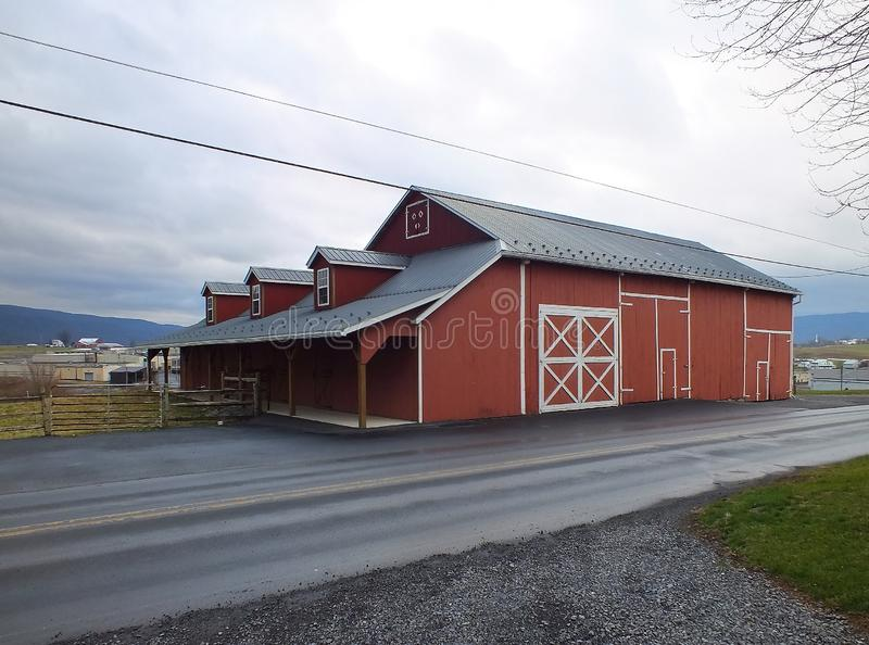 Big Valley Red Barn stock image