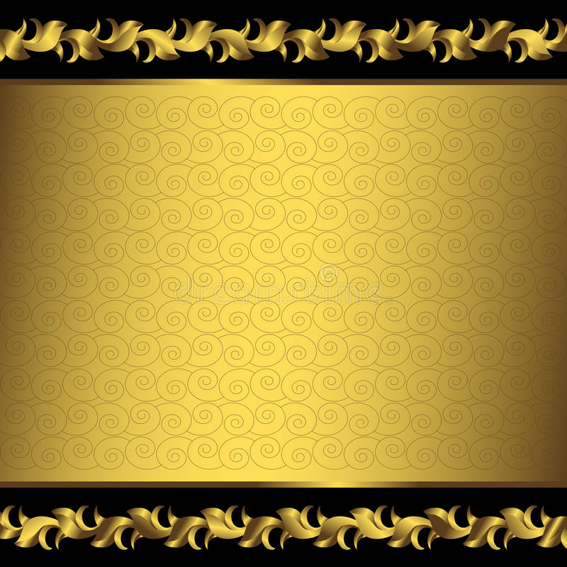 Big vintage golden frame (vector) royalty free stock photography