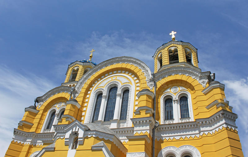 Download Big Vladimir Cathedral stock photo. Image of blue, culture - 19871482