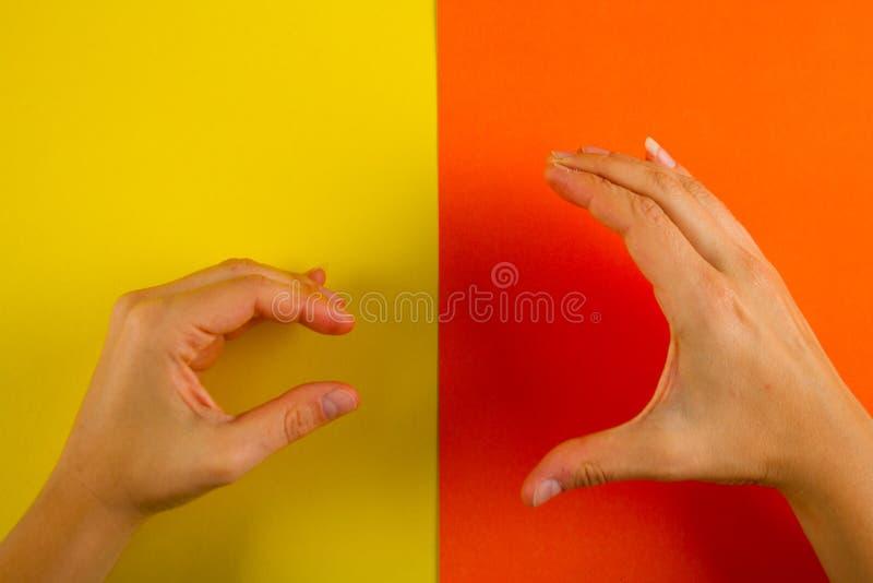 Big vs small stock image