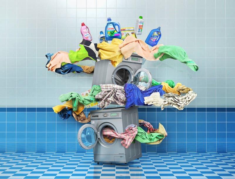 The big washing concept. vector illustration