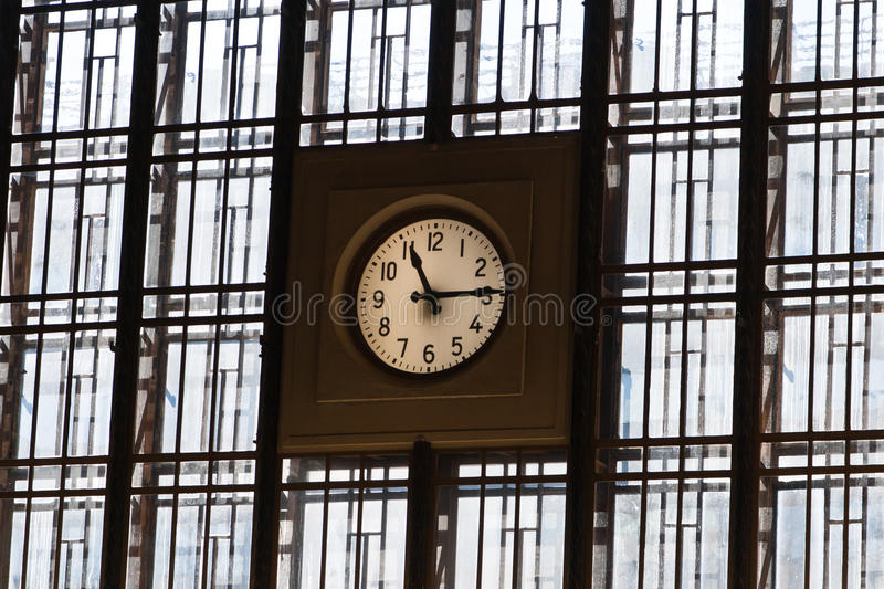 Download A Big Watch On Wall From Windows With Lines Stock Image - Image: 25648533