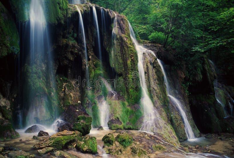 Big waterfall in Beusnita natural park, Romania stock photo