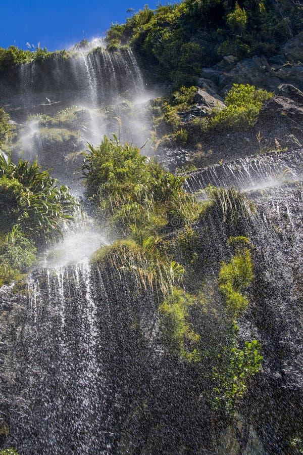 Waterfall in Doubtful sound stock photos