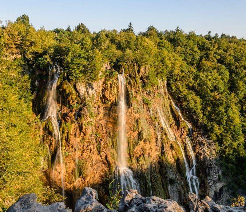 Big waterfall royalty free stock photo
