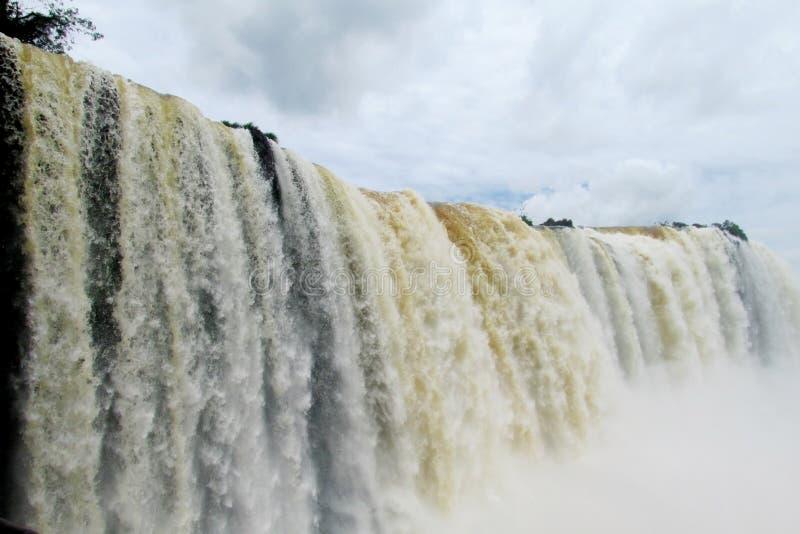 Big waterfall spray stock image