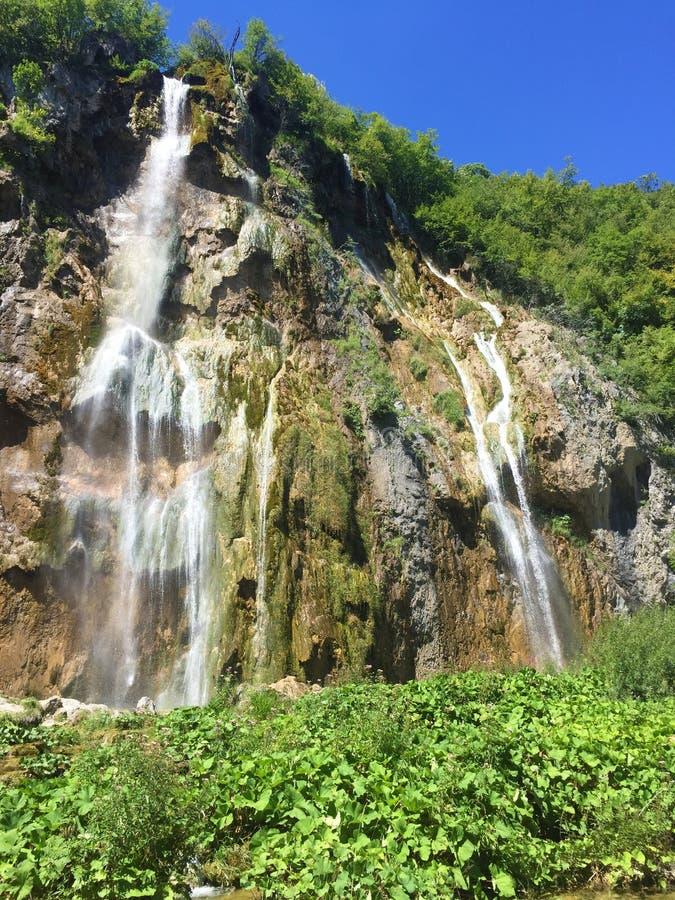 Big waterfall Veliki slap or Slap Plitvica, Plitvice Lakes National Park or nacionalni park Plitvicka jezera, UNESCO stock photos