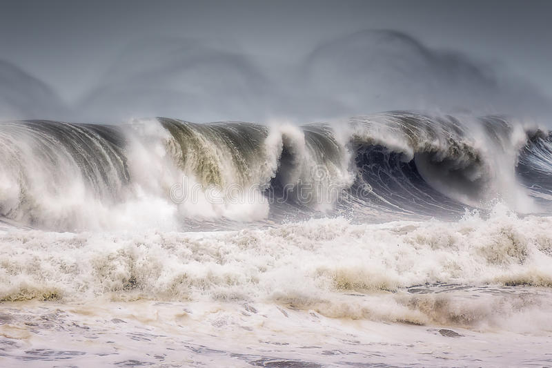 Big wave breaking royalty free stock photography