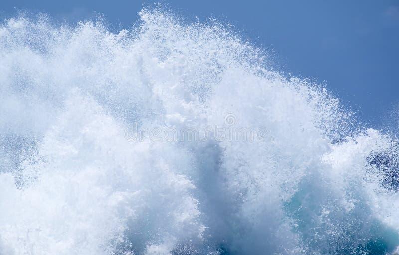 Big Wave Crashing into Seashore royalty free stock images