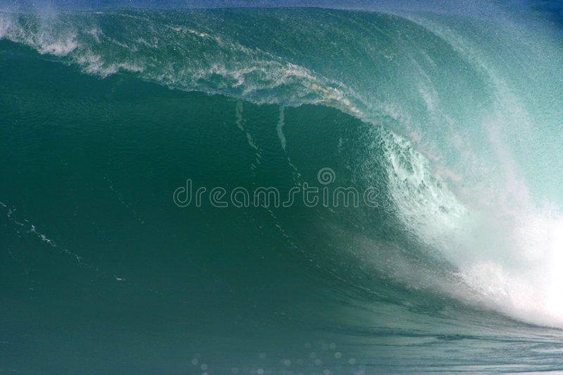 Big Wave in Hawaii royalty free stock photo