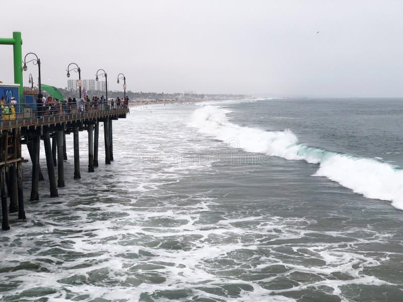 Wave of Santa Monica Beach. Big Wave of Santa Monica Beach royalty free stock image