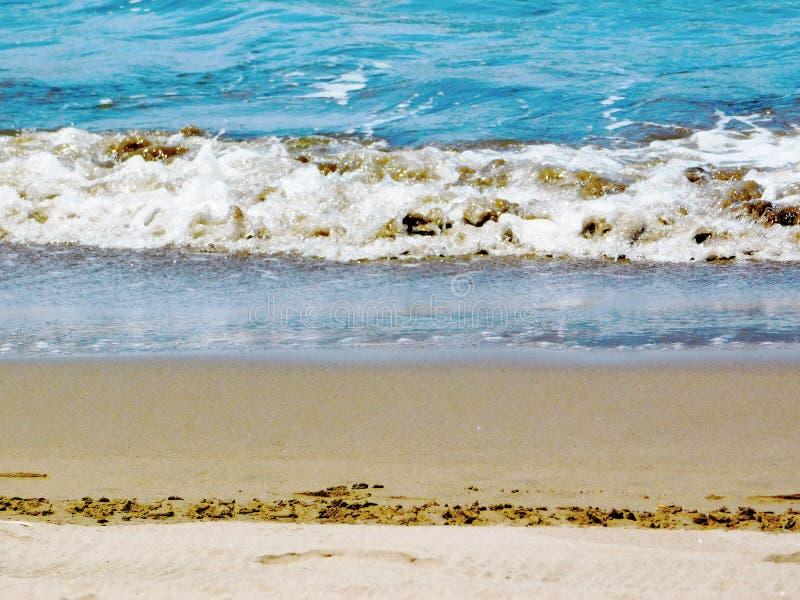 A big wave on the sea`s coast stock image