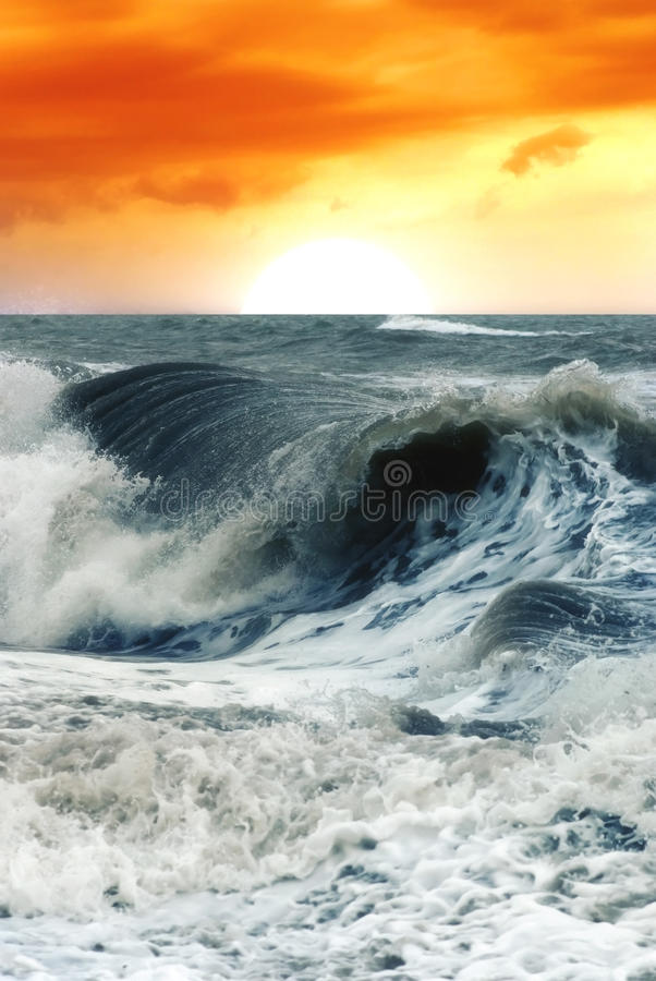 Download Big waves stock photo. Image of blue, clouds, scene, tidal - 13777426