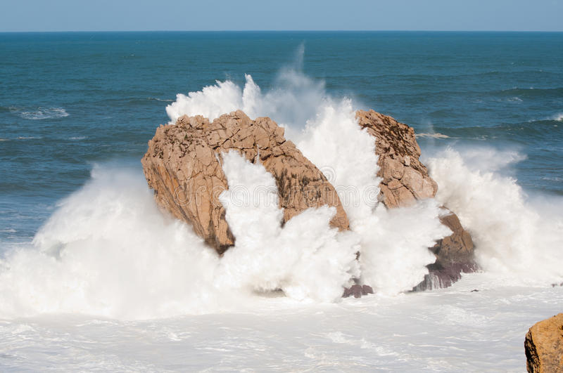 Download Big Waves Breaking Against The Rocks, Urros, Cantabria Stock Photo - Image: 37638870