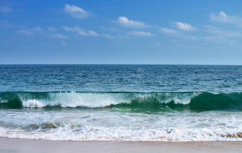 Big waves ocean. The larger waves. The coast of the Indian ocean. Sri Lanka stock image