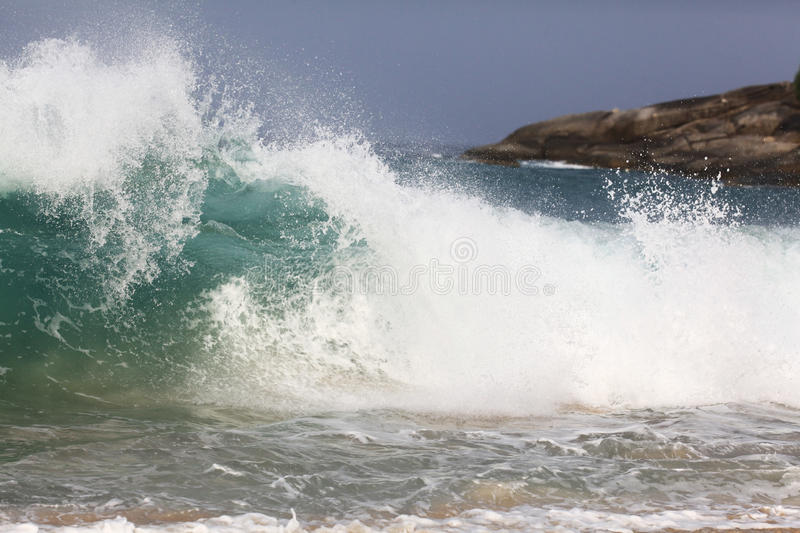 Big waves on sea royalty free stock image