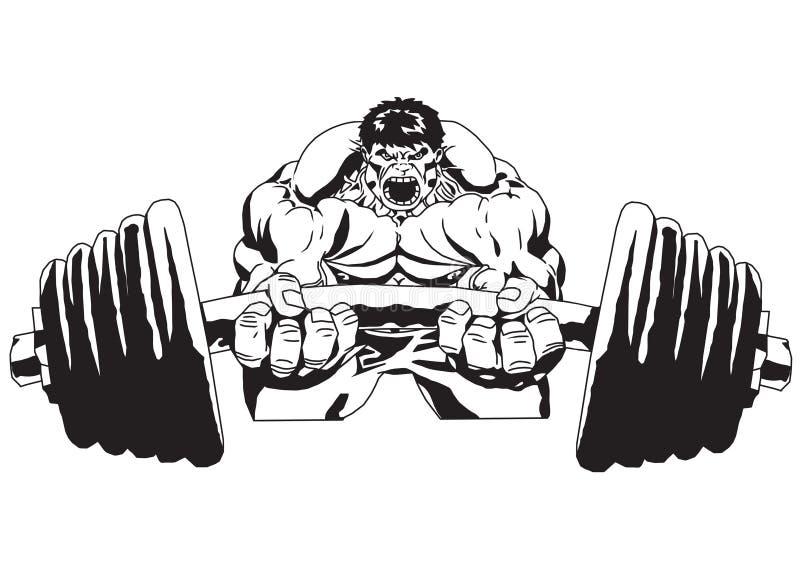 Big weight royalty free illustration