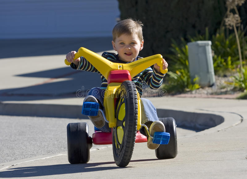 Big Wheel Boy royalty free stock image