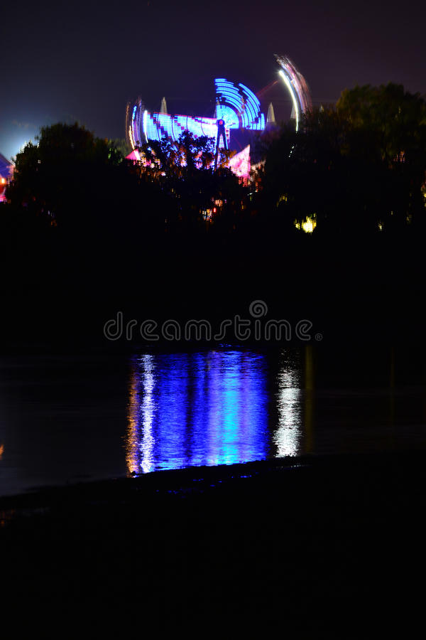 Download Big Wheel And River Reflections Stock Image - Image: 93425067