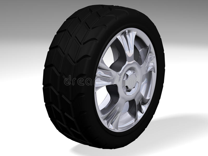 Download Big Wheel With Sport Tyre Stock Image - Image: 12495331