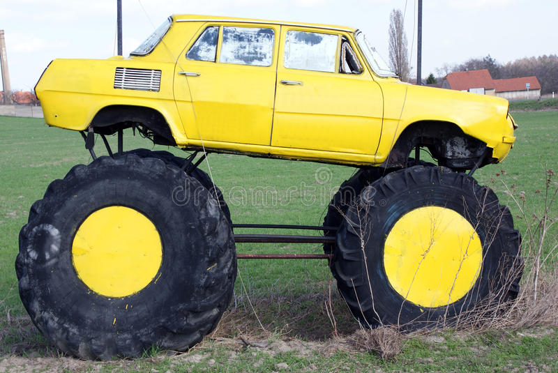 Big wheels car stock image