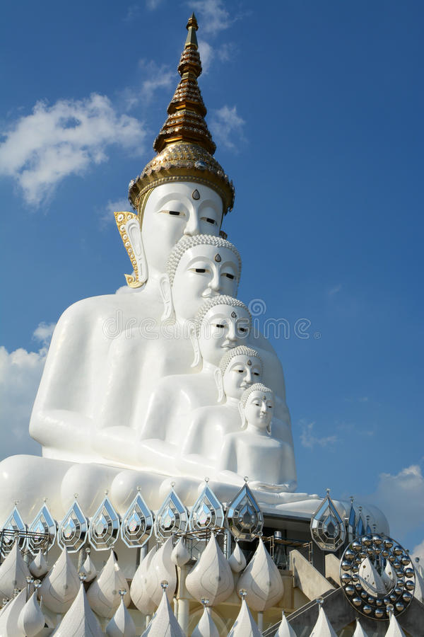 Big white Buddha statue. stock photos