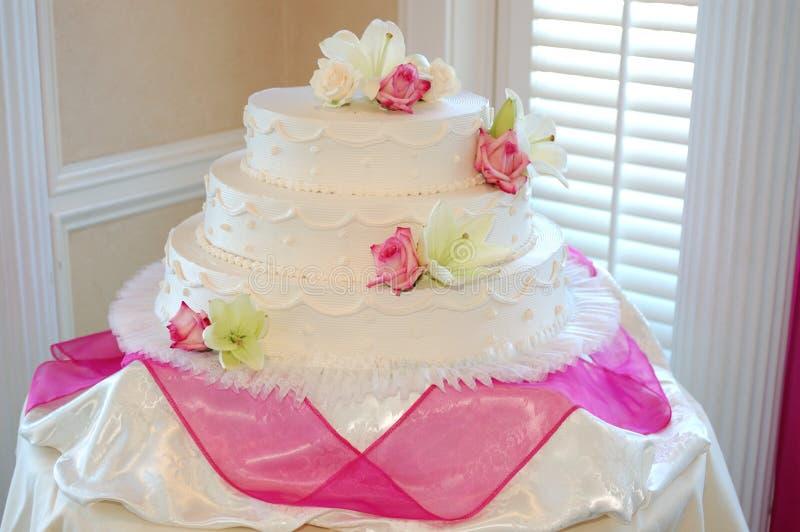 Big White Cake royalty free stock photo