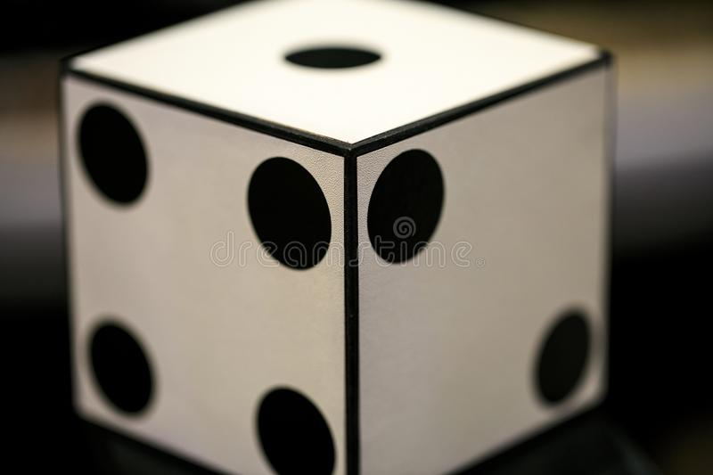 Big white dice for magicians.  royalty free stock image