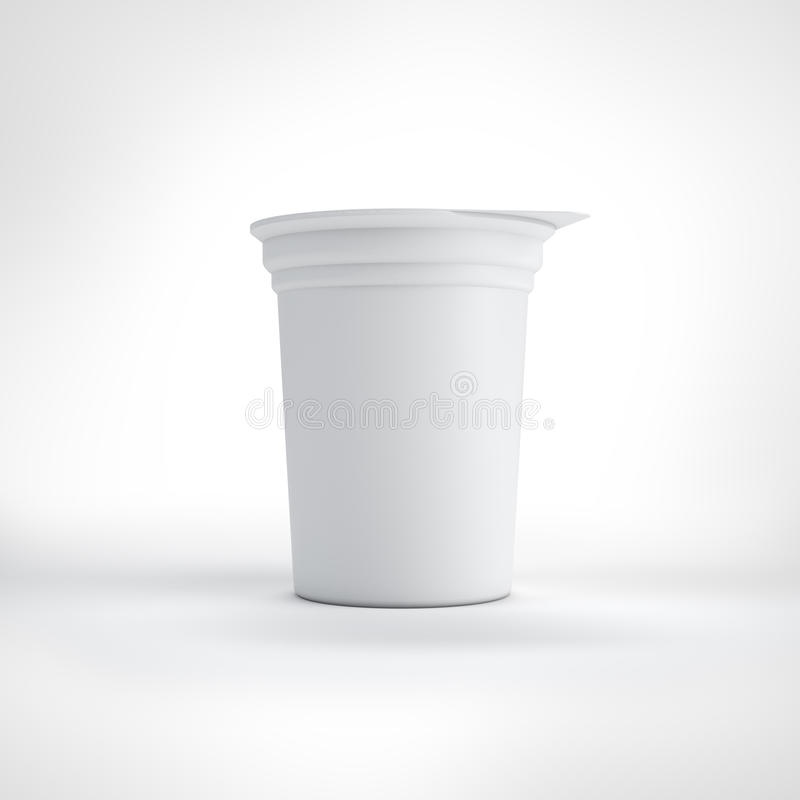 Big White Food Plastic Container Stock Photography