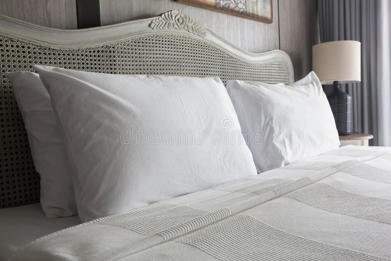 Big white pillows royalty free stock photography