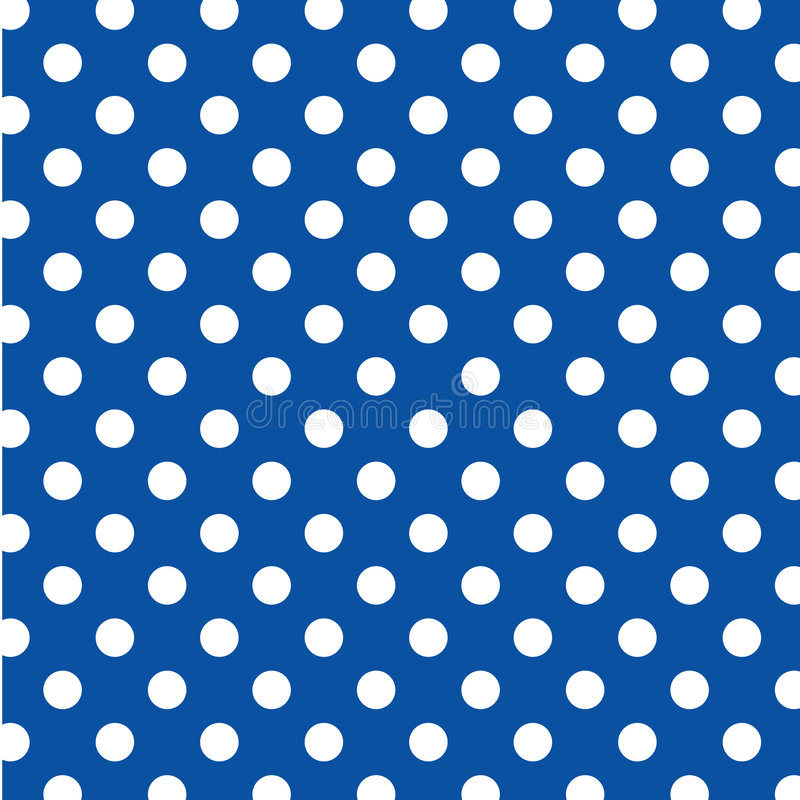 Big White Polka Dots on Blue, Seamless Background royalty free stock photography