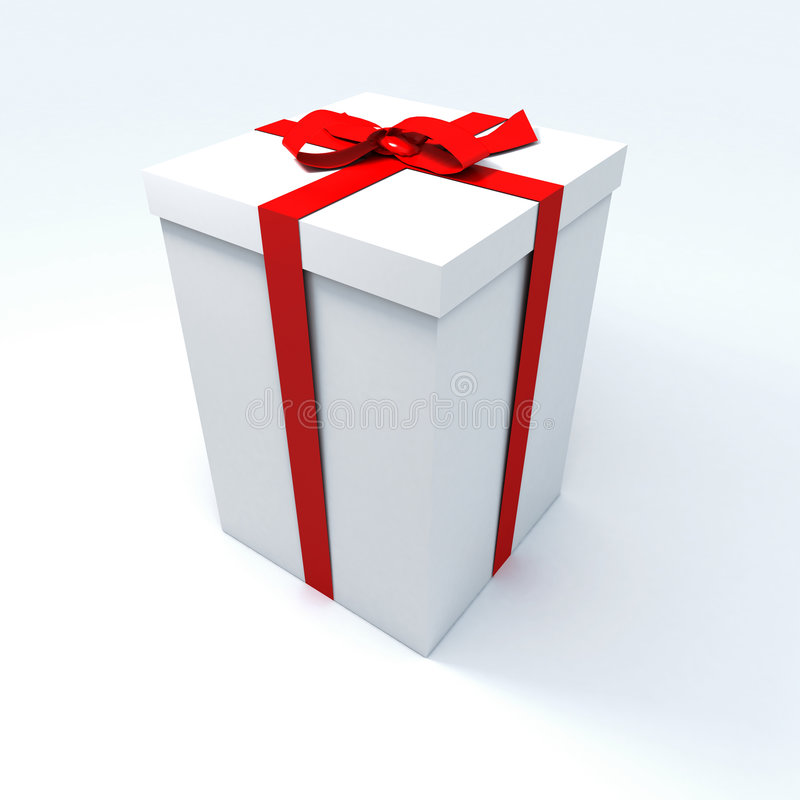 Big white present royalty free stock image