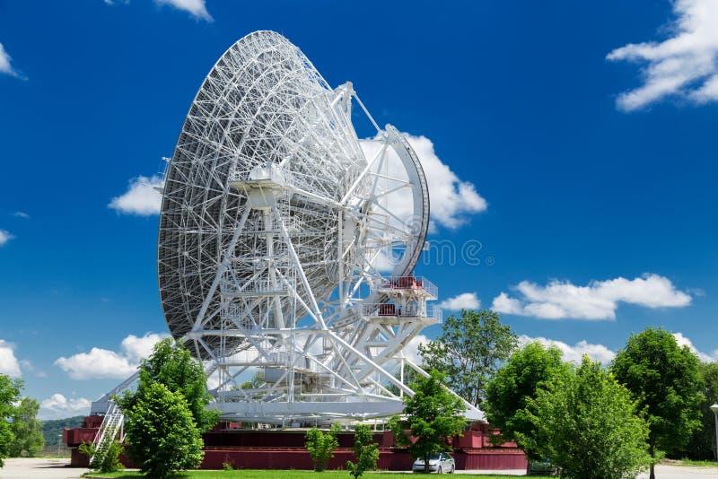 Big white radio telescope RTF-32. At summer day royalty free stock photography
