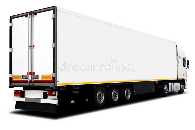 Download Big White Truck stock photo. Image of trailer, speed - 10312660