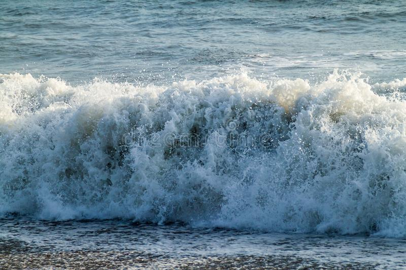 Big white wave in a s royalty free stock photography