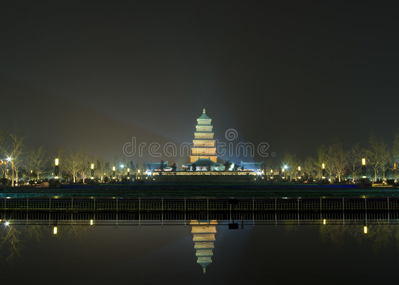 Big Wild Goose Pagoda. Is a place of interesting in china royalty free stock image