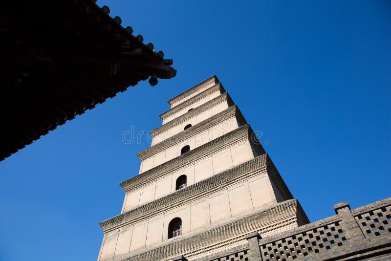Big Wild Goose Pagoda Xi'an China stock photography