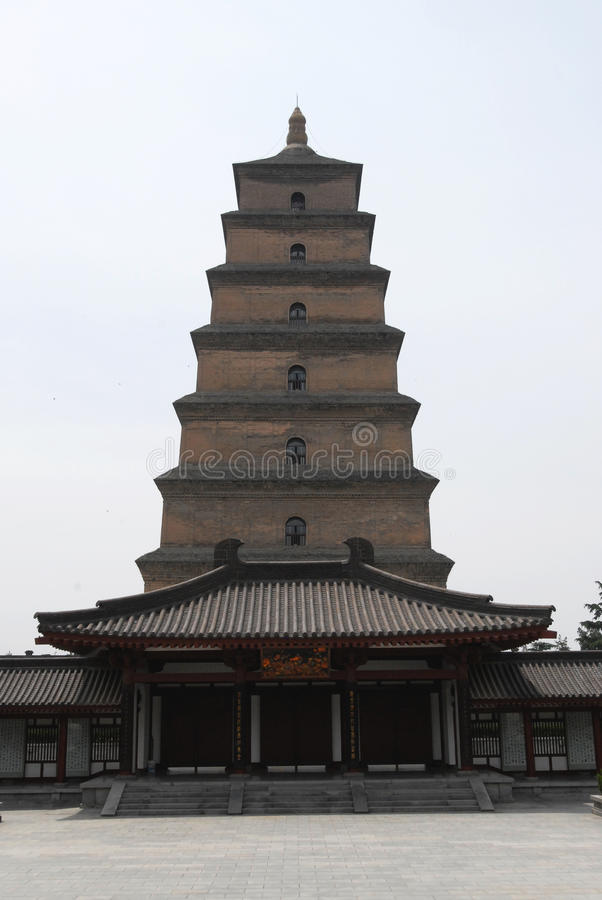 Big Wild Goose Pagoda in Xian. Temple Big Wild Goose Pagoda in Xian stock photos